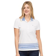 Women's IZOD Slim Fit Striped Hem Polo