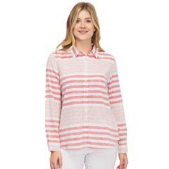 Women's IZOD Weekend Linen-Blend Shirt