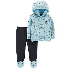 Baby Boy Carter's Hooded Top & Bear Footed Leggings Set