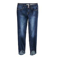 Girls 7-16 Indigo Rein Frayed Hem Skinny Jeans