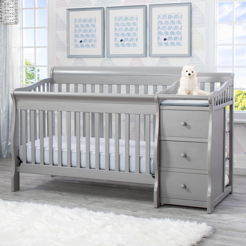Superbe Delta Children Princeton Junction Convertible Crib N Changer