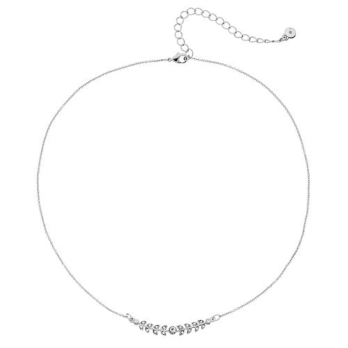 LC Lauren Conrad Simulated Crystal Leaf Necklace