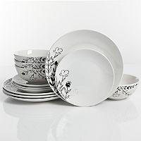 The Big One Florally 12-piece Dinnerware Set Deals
