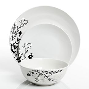The Big One® Florally 12-piece Dinnerware Set