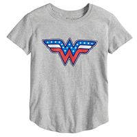 Girls 7-16 DC Comics Wonder Woman Americana Tee