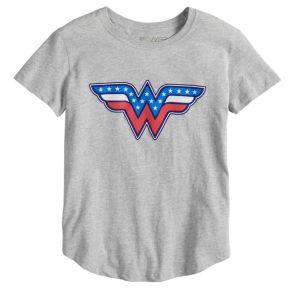 Girls 7-16 DC Comics Wonder Woman Americana Tee