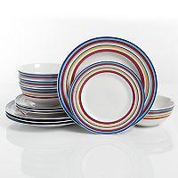 Deals on The Big One Sundaze 12-piece Dinnerware Set