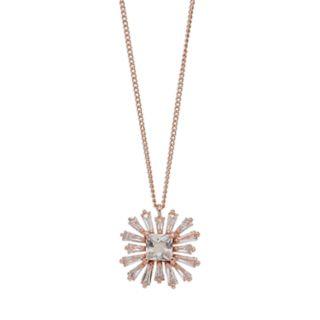 LC Lauren Conrad Burst Cubic Zirconia Pendant Necklace