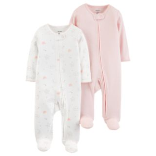 Baby Girl Carter's  2-Pack Patterned Sleep & Plays