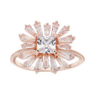 LC Lauren Conrad Cubic Zirconia Baguette Burst Ring