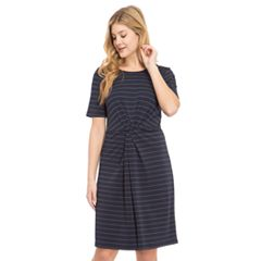 Women's IZOD Striped Twist-Front Dress