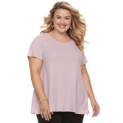 Plus Size SONOMA Goods for Life™ Waffle Swing Tee