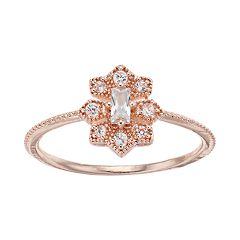 LC Lauren Conrad Cubic Zirconia Milgrain Ring