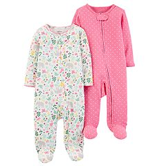 Baby Girl Carter's 2-Pack Floral & Polka Dot Sleep & Plays