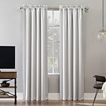 Sun Zero Oslo Theater Grade Extreme 100% Blackout Rod Pocket Curtain Panel