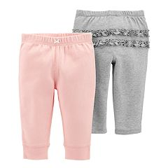 Baby Girl Carter's 2-pk. Solid Ruffle Pants