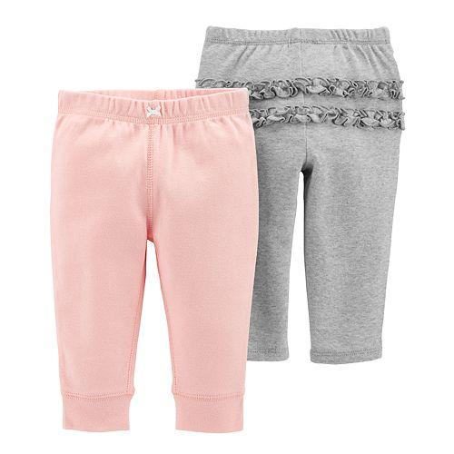 Baby Girl Carter's 2-pk. Solid Ruffle Pants