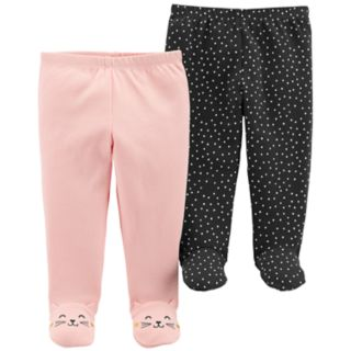 Baby Girl Carter's 2-Pack Footed Pants