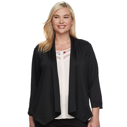 Juniors' About A Girl Open Ponte Blazer