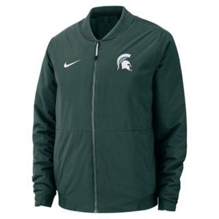 Men's Nike Michigan State Spartans Shield Bomber Jacket
