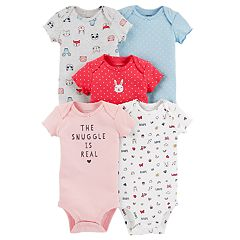 Baby Girl Carter's 'The Snuggle Is Real'  5-pack Graphic Bodysuits