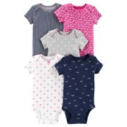 Baby Girl Carter's 5-pack Love Bodysuits