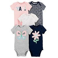 10-Count (2 x 5-Pack) Carter's Infant Baby Girl or Boy Bodysuits (various)