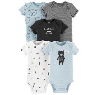 Baby Boy Carter's 5-pack Short Sleeve Bodysuits