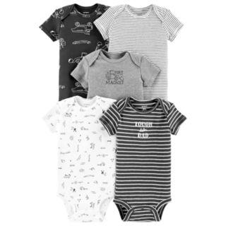 Baby Boy Carter's 5-pack Construction Graphic Bodysuits