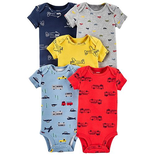 Baby Boy Carter's 5-pack Transportation Graphic Bodysuits