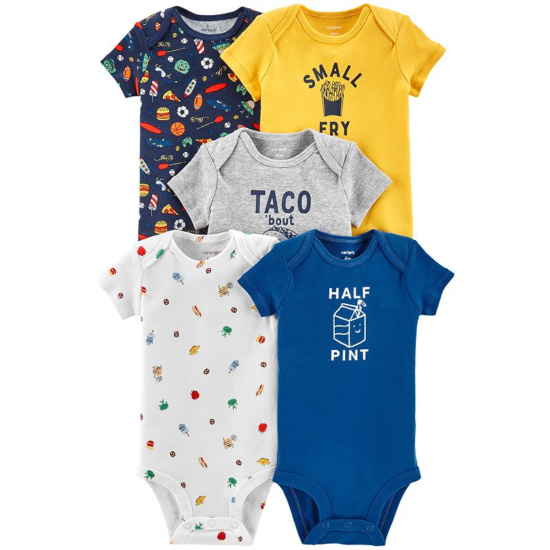 c2bf36c36 Baby Boy Carter's 5-pack Food Graphic Bodysuits just $7.27 shipped for  Kohl's Cardholders! Original price $26.00