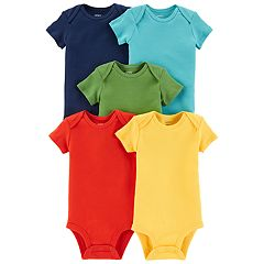 Baby Boy Carter's 5-pack Solid Bodysuits