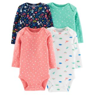 Baby Girl Carter's 4-pack Graphic Bodysuits