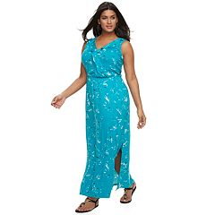 Plus Size Apt. 9® Ruffle Maxi Dress