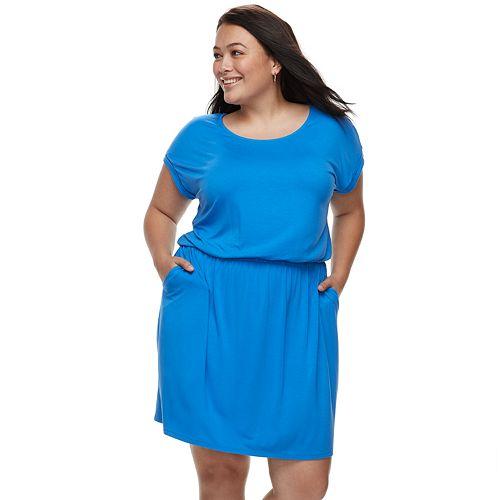 Plus Size Apt. 9® Cinched T-Shirt Dress