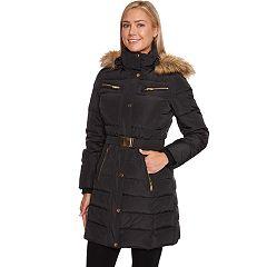 Women's Halitech Faux-Fur Hooded Belted Puffer Jacket