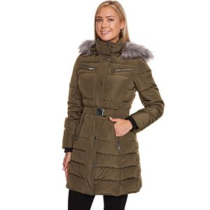 c90a928015a Women s Weathercast Hooded Diamond-Quilted Puffer Jacket. (6). Sale