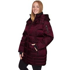 Plus Size Halitech Hooded Iridescent Puffer Jacket
