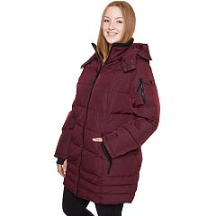 Plus Size Halitech Hooded Heavyweight Puffer Jacket