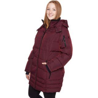 Plus Size Halitech Hooded Heavyweight Puffer Jacket