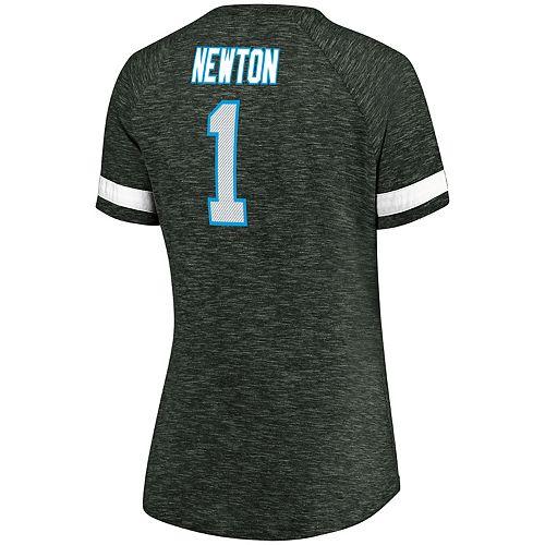 Women's Majestic Carolina Panthers Cam Newton Tee