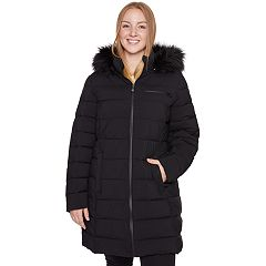 Plus Size Faux-Fur Hooded Stretch Puffer Jacket