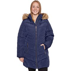 Plus Size Halitech Faux-Fur Hooded Heavyweight Puffer Jacket