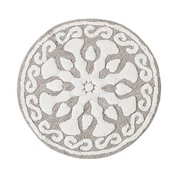 Madison Park Marrakesh Medallion Cotton Tufted Rug - 25'' x 25''