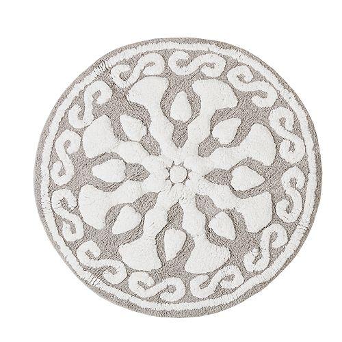 Madison Park Marrakesh Medallion Cotton Tufted Rug - 25'' x 25''