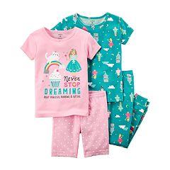Girls 4-8 Carter's 'Never Stop Dreaming' Princess Tops, Shorts & Pants Pajama Set