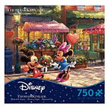 Disney's 750-Piece Thomas Kinkade Mickey & Minnie Sweetheart Café Disney Dreams Puzzle by Ceaco