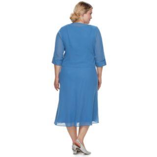 Plus Size Le Bos Sleeveless Dress & Jacket set