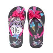 "Girls 4-16 JoJo Siwa ""Dream Crazy Big"" Bow Thong Flip Flop Sandals"
