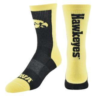 Men's Iowa Hawkeyes Loud & Proud Crew Socks